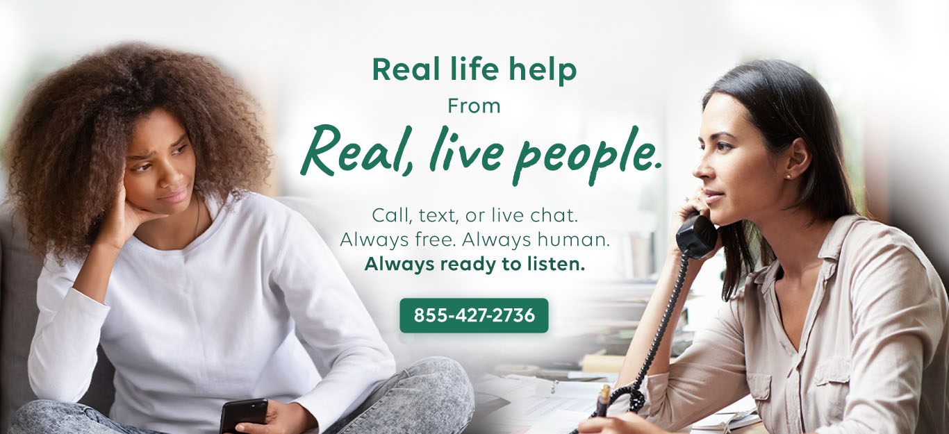 Real life help from real live people hero image